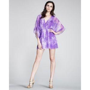 Alice + Olivia S Purple Spencer Tiedye Dress